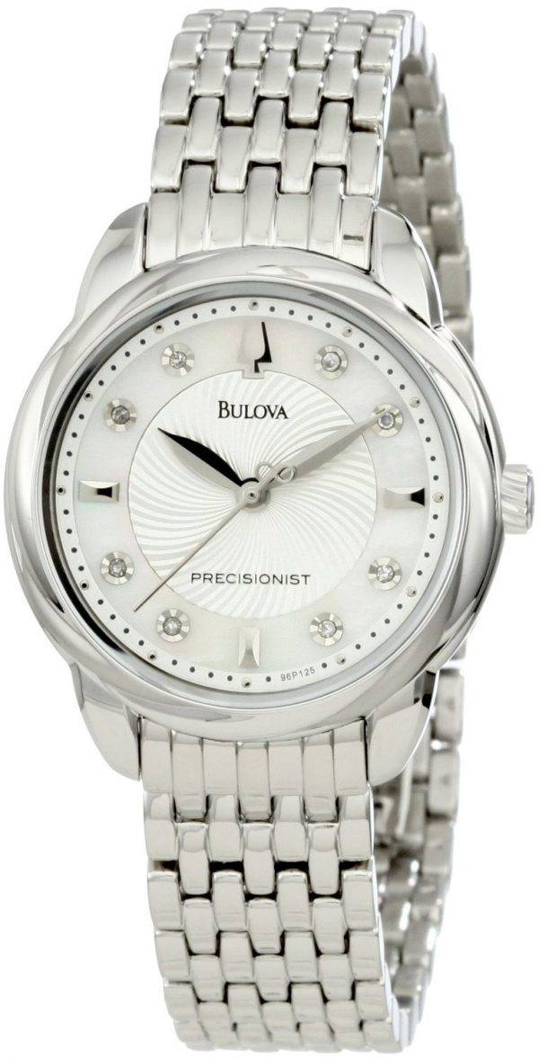 Bulova Precisionist Brightwater Crystal 96P125 Womens Watch