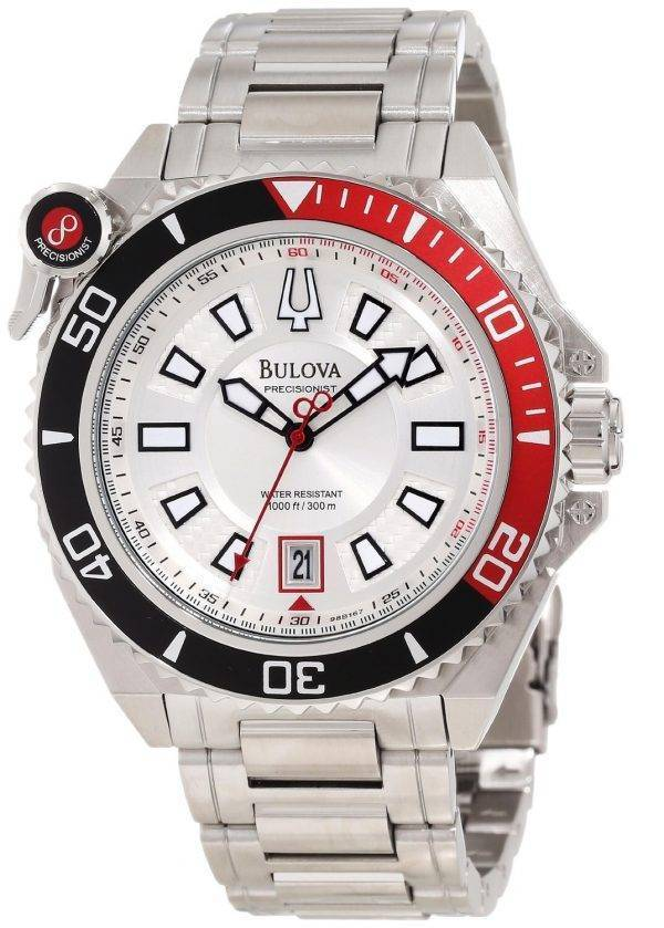 Bulova Precisionist 300M Silver Dial 98B167 Mens Watch