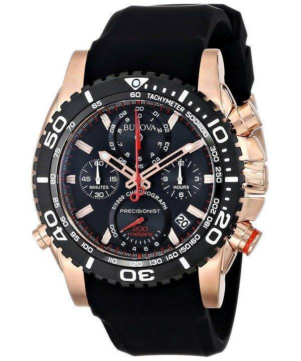 Montre Bulova précisionniste chronographe tachymètre 200M 98B211 masculin