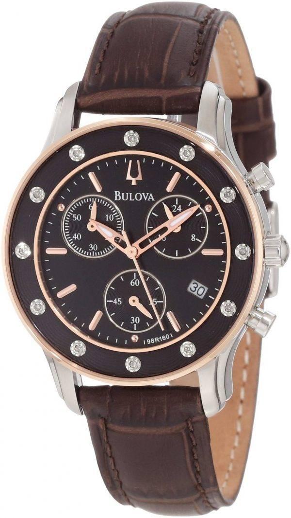 Montre Bulova précisionniste cadran brun Chronograph 98R160 féminin