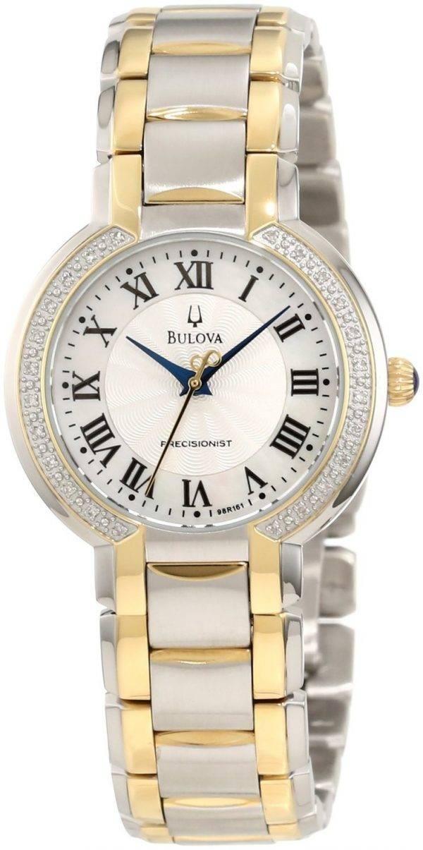 Bulova Precisionist Fairlawn Diamond Bezel 98R161 Womens Watch