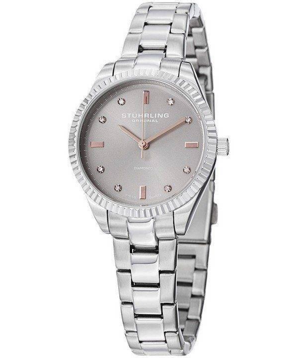 Stuhrling Original Allure Diamond Quartz 607L.03 Womens Watch