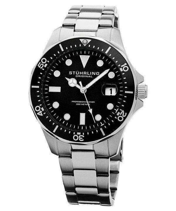 Stuhrling Original Regatta Quartz Divers 200M 824.01 Mens Watch