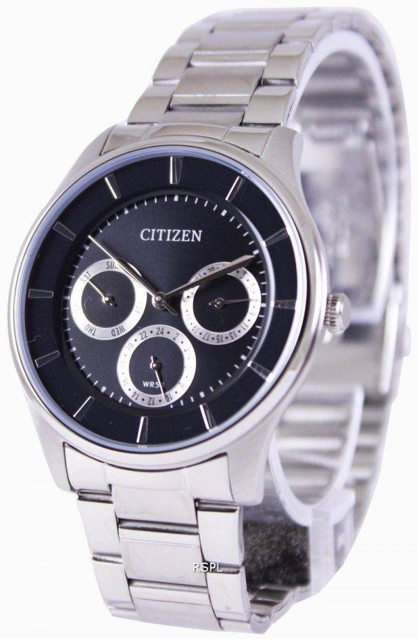 Citizen Multifunction Quartz Black Dial AG8351-51E Mens Watch