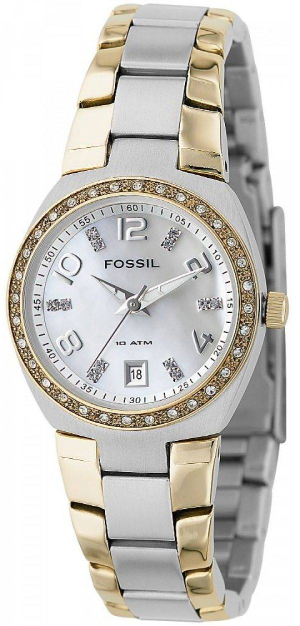 Fossil Colleague Two Tone Mother of Pearl Dial AM4183 Womens Watch