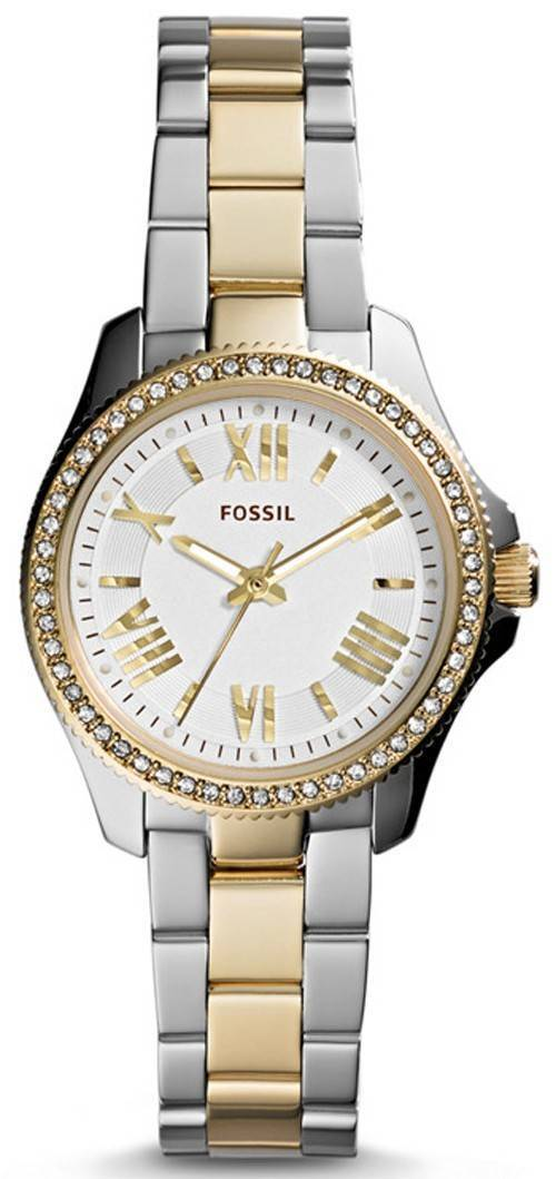 Fossil Cecile Crystal Two-Tone Stainless Steel AM4579 Womens Watch