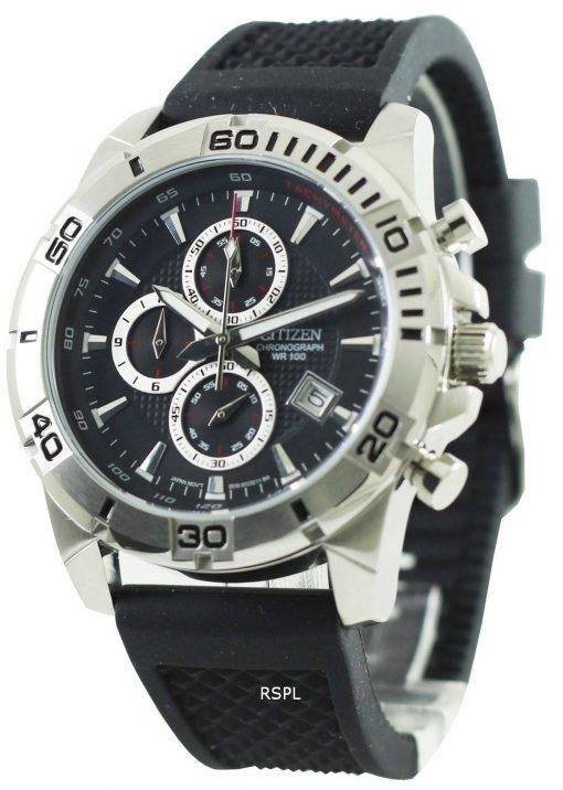 Montre Citizen Chronograph noir bracelet AN3490-04F masculine