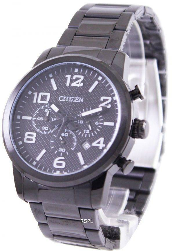 Montre IP noir Citizen Quartz chronographe AN8055-57E homme