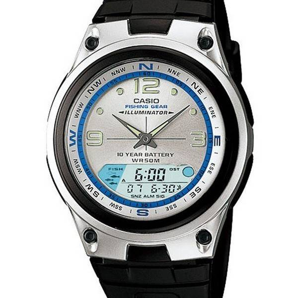 montre casio fishing gear illuminator
