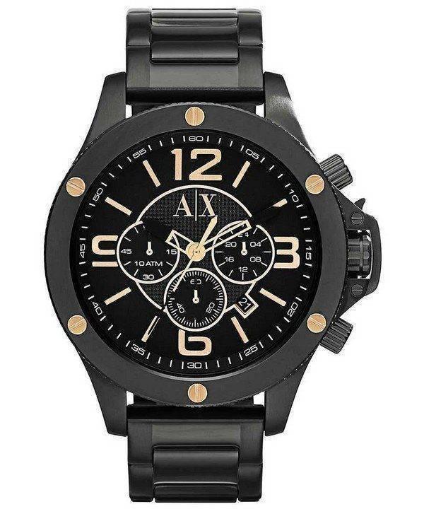 Armani Exchange Chronograph Black Dial AX1513 Mens Watch