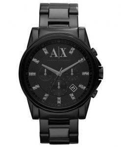 Armani Exchange chronographe cristaux noire cadran AX2093 montre homme