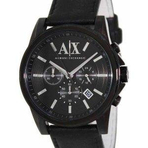 Armani Exchange chronographe cadran noir AX2098 montre homme