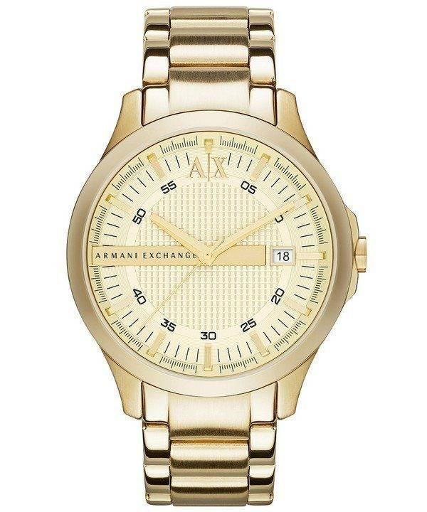 Armani Exchange doré cadran Champagne AX2131 montre homme
