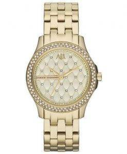 Armani Exchange Lady Hampton Champagne matelassé alternante AX5216 Women Watch Dial