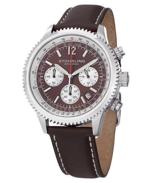 Stuhrling Original Monaco Chronograph 669.03 Mens Watch