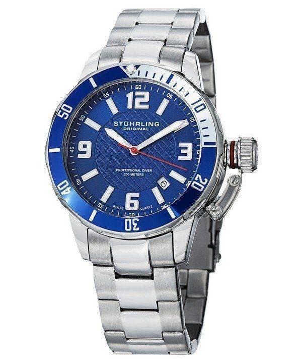 Stuhrling Original Divers 200M Quartz 676.02.SET Mens Watch