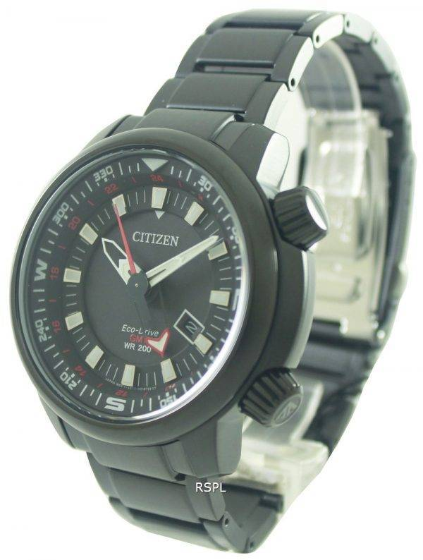 Citizen Eco-Drive Power réserve GMT 200M BJ7085-50E montre homme