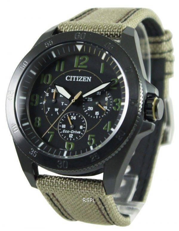 Montre Citizen Eco-Drive kaki noir IP BU2035-05F masculine