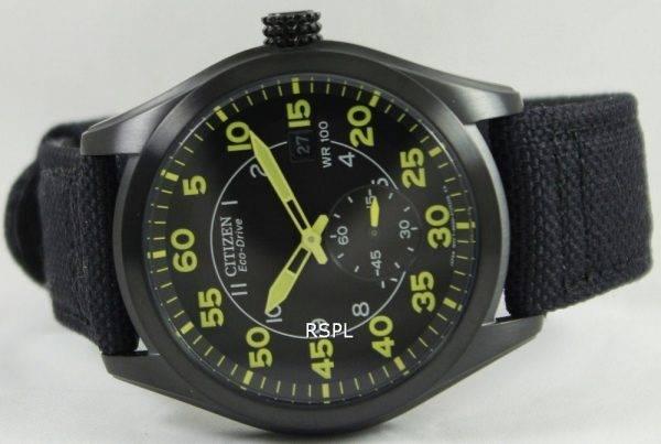 Citizen Eco-Drive Black Canvas Strap BV1085-14E Mens Watch