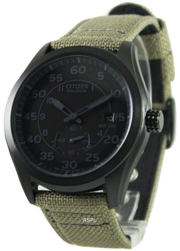 Citizen Eco-Drive Canvas Strap BV1085-31E Mens Watch