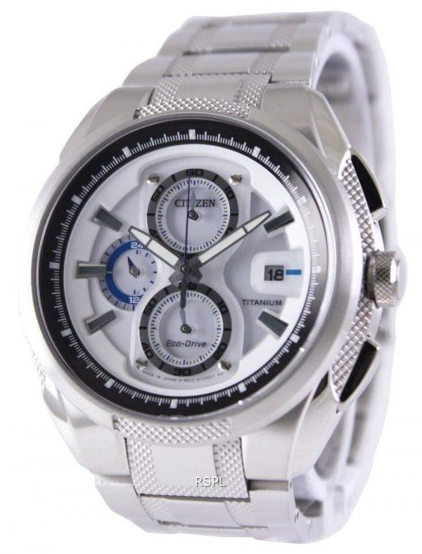 Montre Citizen Eco-Drive Chronograph titane Super CA0201-51 b