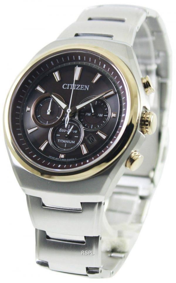 Citizen Eco-Drive Titanium Chronograph CA4024-53W Mens Watch