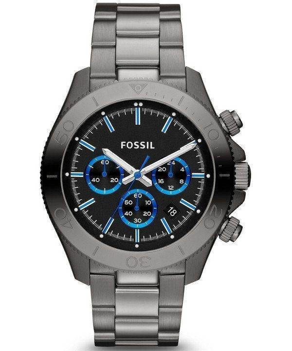 Fossil Retro Traveler Chronograph Smoke Tone CH2869 Mens Watch