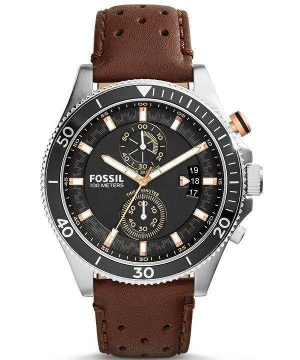 Decker fossile Chronograph cuir sangle CH2944 montre homme