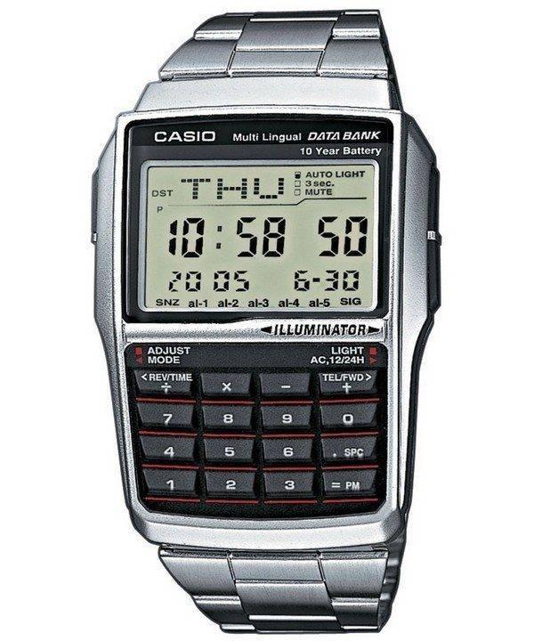 Banque de données numérique Casio jeunesse 5 alarme multi lingues DBC-32D-1ADF DBC-32D-1 montre homme