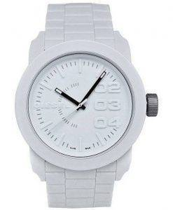 Diesel Double Down White Dial Rubber Strap DZ1436 Mens Watch
