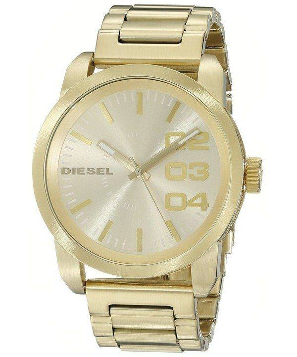 Diesel Franchise Gold Ion-plated Double Down DZ1466 Mens Watch