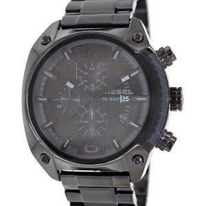 Diesel avancé chronographe cadran noir Ion plaqué DZ4223 montre homme