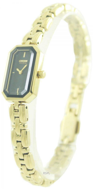 Citizen Eco-Drive Gold Tone Silhouette EG2752-54E Womens Watch