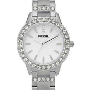 Fossil Watch Silver Jesse cristaux cadran blanc ES2362 féminin