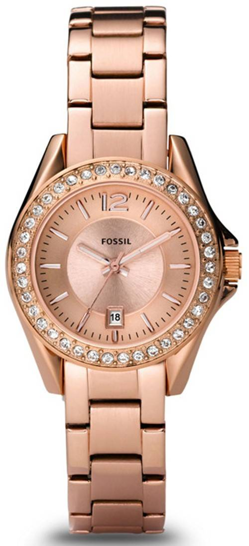 Fossil Riley Mini Rose Gold Crystals ES2889 Womens Watch