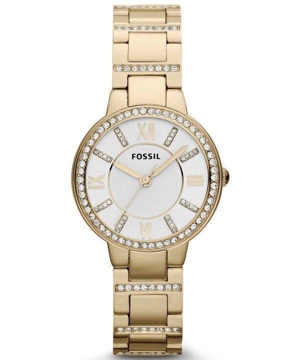 Fossil Virginia Three-Hand Crystal Gold Tone ES3283 Womens Watch