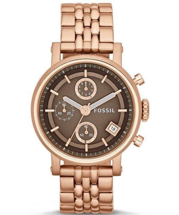 Fossiles originaux copain chronographe Rose doré ES3494 Women Watch