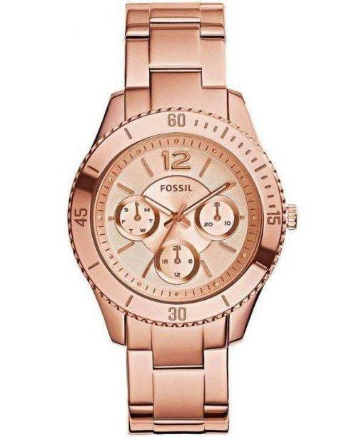 Fossil Stella Multifunction Rose Gold Stainless-Steel ES3815 Womens Watch