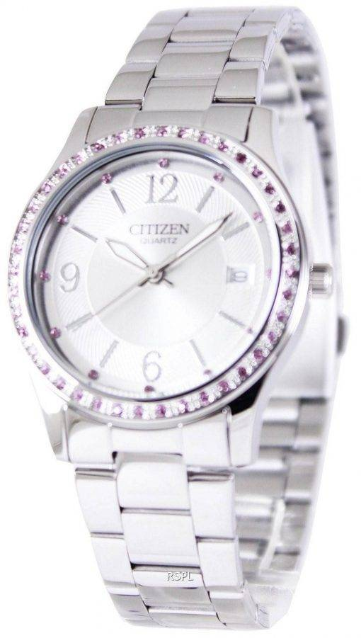 Citizen Quartz Pink Swarovski Elements EV0040-59A Womens Watch