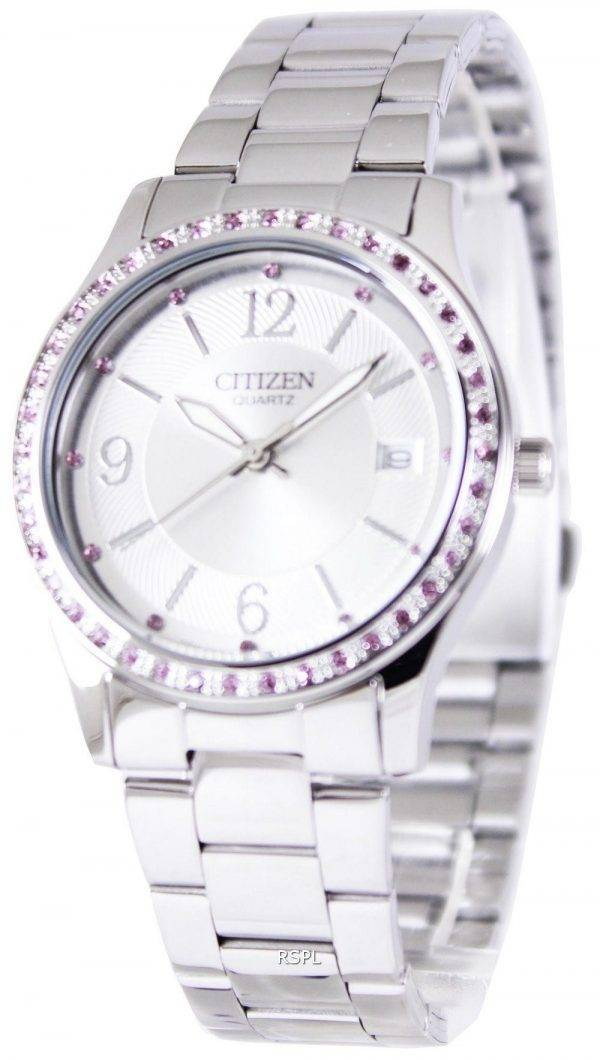 Citizen Quartz Pink Swarovski Elements EV0040-59A Womens Watch