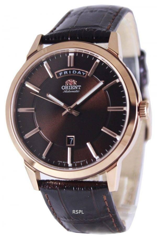 Orient Classic Automatic Brown Dial Leather Strap EV0U002T Men's Watch