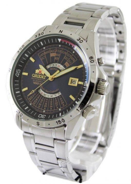 Orient Automatic 21 Jewels Multiyear Calendar FEU03002D Mens Watch