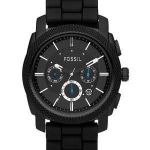 Machine fossile Chronograph Silicone noir bracelet FS4487 montre homme