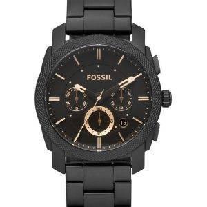 Fossile Machine taille moyenne Chronograph IP noir inox FS4682 Men Watch