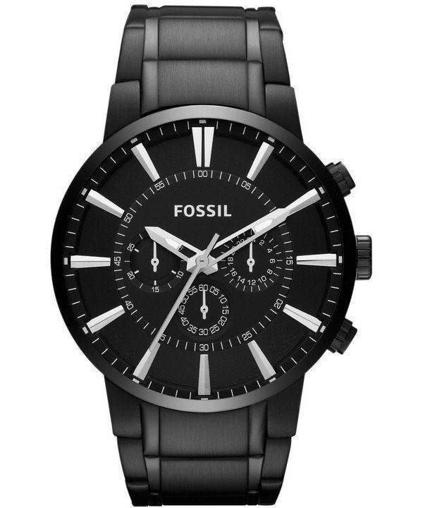 Fossil Townsman Chronograph Black IP Stainless Steel FS4778 Mens Watch