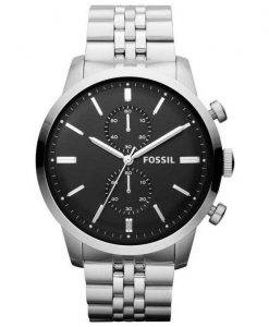Fossil Townsman Chronograph Black Dial Stainless Steel FS4784 Mens Watch