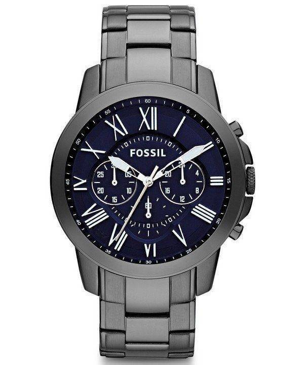 Fossil Grant Chronograph Black IP Stainless Steel FS4831 Mens Watch