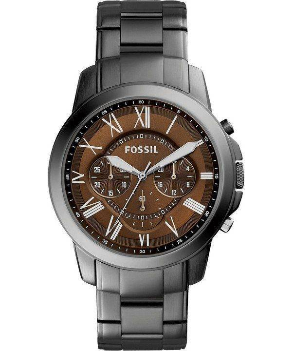 Fossil Grant Chronograph Brown Dial Stainless Steel FS5090 Mens Watch