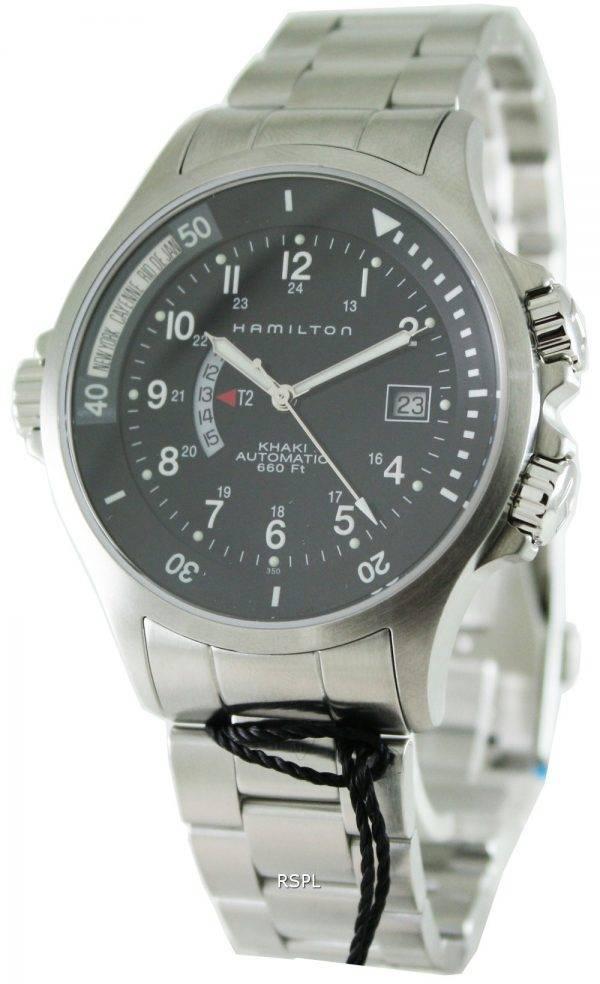 Hamilton Khaki Navy GMT H77615133 montre homme