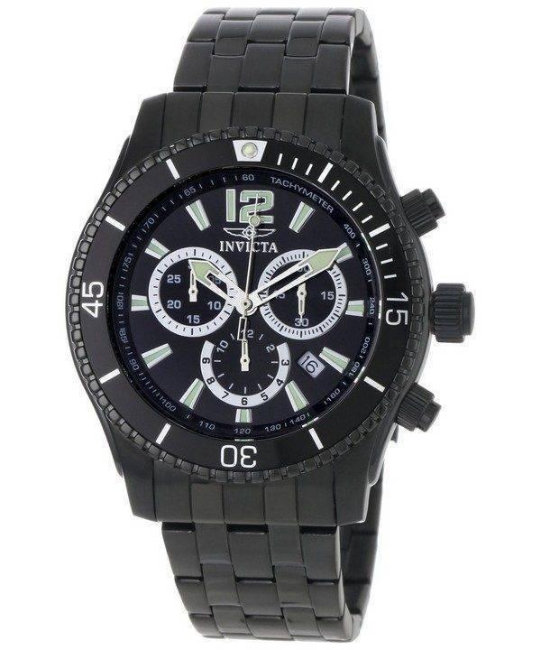 Invicta Specialty Black IP Chronograph INV0624/0624 Mens Watch
